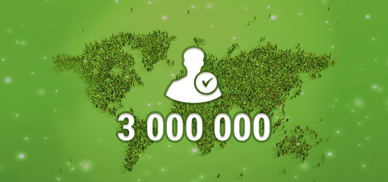 Great news everybody! It is 3 million of us now!